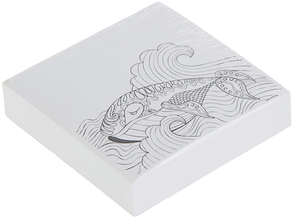 Фолиант Блок для записей Кит 8,5 x 8,5 см 200 листов записные книжки фолиант книга для записей кулинарных рецептов
