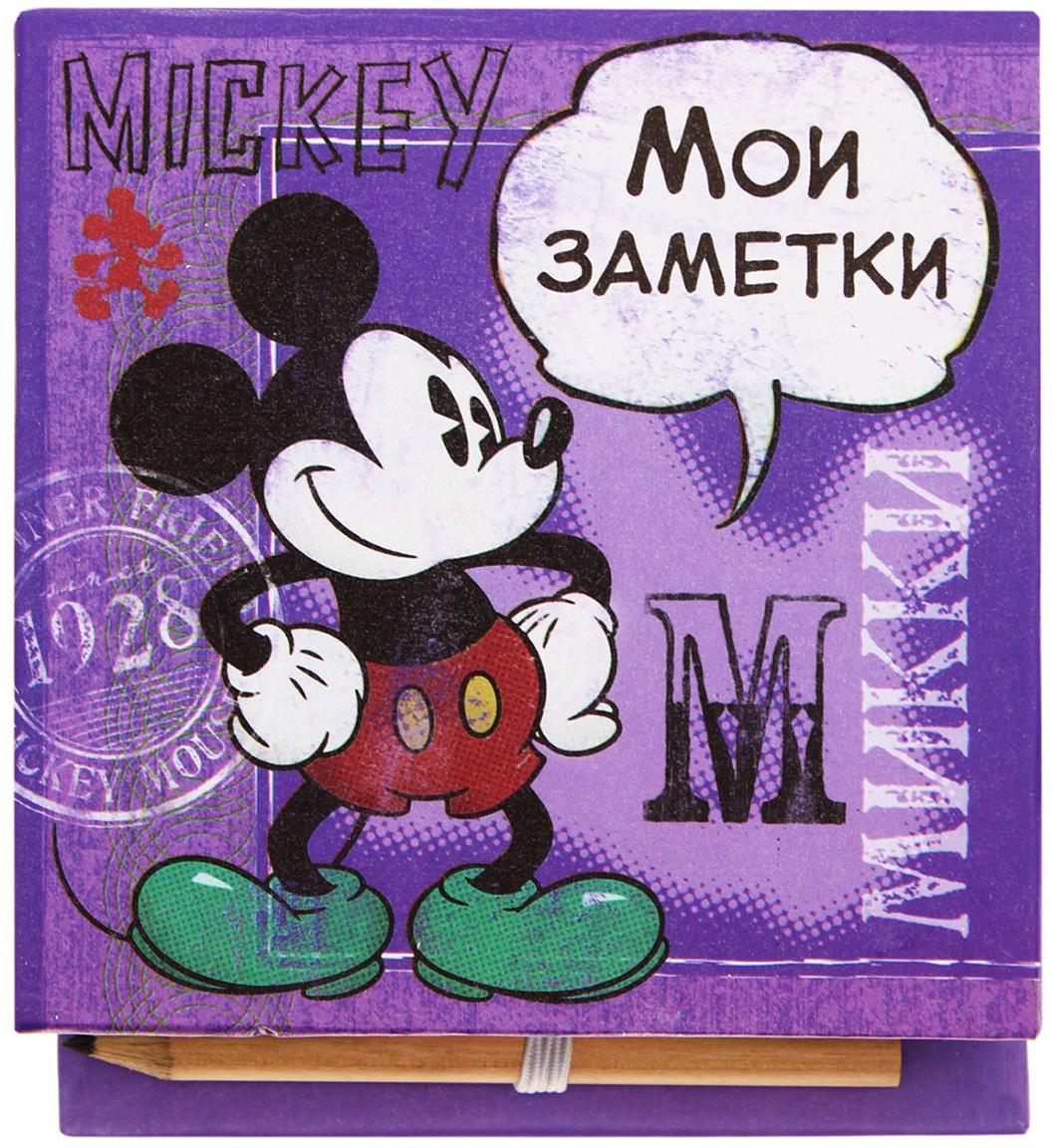 Disney Блок для записей Мои заметки 10 x 10 см 150 листов1158866Заряжайтесь позитивом каждый день вместе с любимыми героями мультфильмов Disney. Специально для поклонников Микки Мауса и его друзей мы разработали целую серию канцелярских принадлежностей.Футляр содержит блок на 100 дизайнерских листов размером 9 х 9 см. Оставляйте на них сообщения, записывайте ценные мысли, составляйте списки или стройте планы. С оригинальным футляром из плотного картона записи не потеряются, а на столе будет порядок. Чтобы не пришлось искать карандаш, мы поместили его на внутреннюю сторону обложки, теперь он всегда под рукой.Побалуйте себя или близких эффектными аксессуарами.
