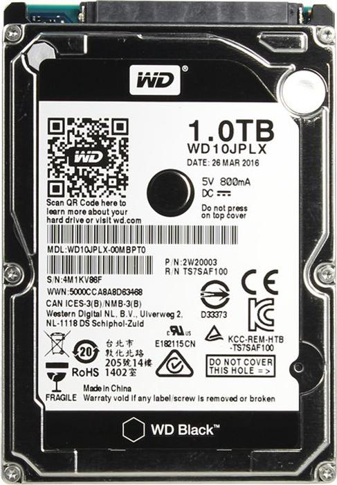 WD Black 1TBвнутренний жесткий диск(WD10JPLX)1193698
