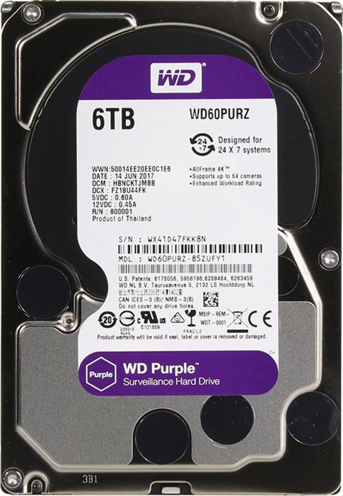 WD Purple 6TB внутренний жесткий диск (WD60PURZ)1212544