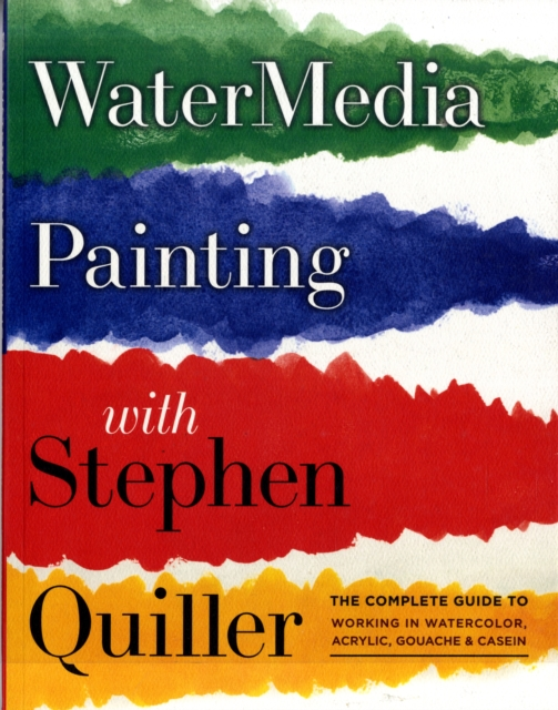 Watermedia Painting with Stephen Quiller watercolor solid pigment paint set 24 colors with a separate palette and a water painting brush for art drawing