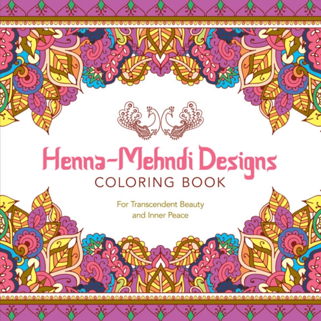 Henna-Mehndi Designs Coloring Book ruth heller s designs for coloring birds