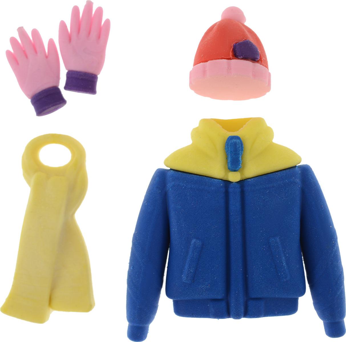 Набор ластиков Одежда, 5 шт4620770207322Набор состоит из 5 ластиков, выполненных из резины в виде куртки, шапки, шарфа и парыперчаток.Ластики - это незаменимые аксессуары на рабочем столе не только школьника или студента, но иофисного работника. Набор ярких ластиков поднимет настроение и станет оригинальнымсувениром. Характеристики:Материал: резина. Комплектация: 5 шт. Размер упаковки: 9,5 см х 14 см х 2 см.Артикул: 4620770207322. Уважаемые клиенты!Обращаем ваше внимание на цветовой ассортимент товара. Поставка осуществляется взависимости от наличия на складе.