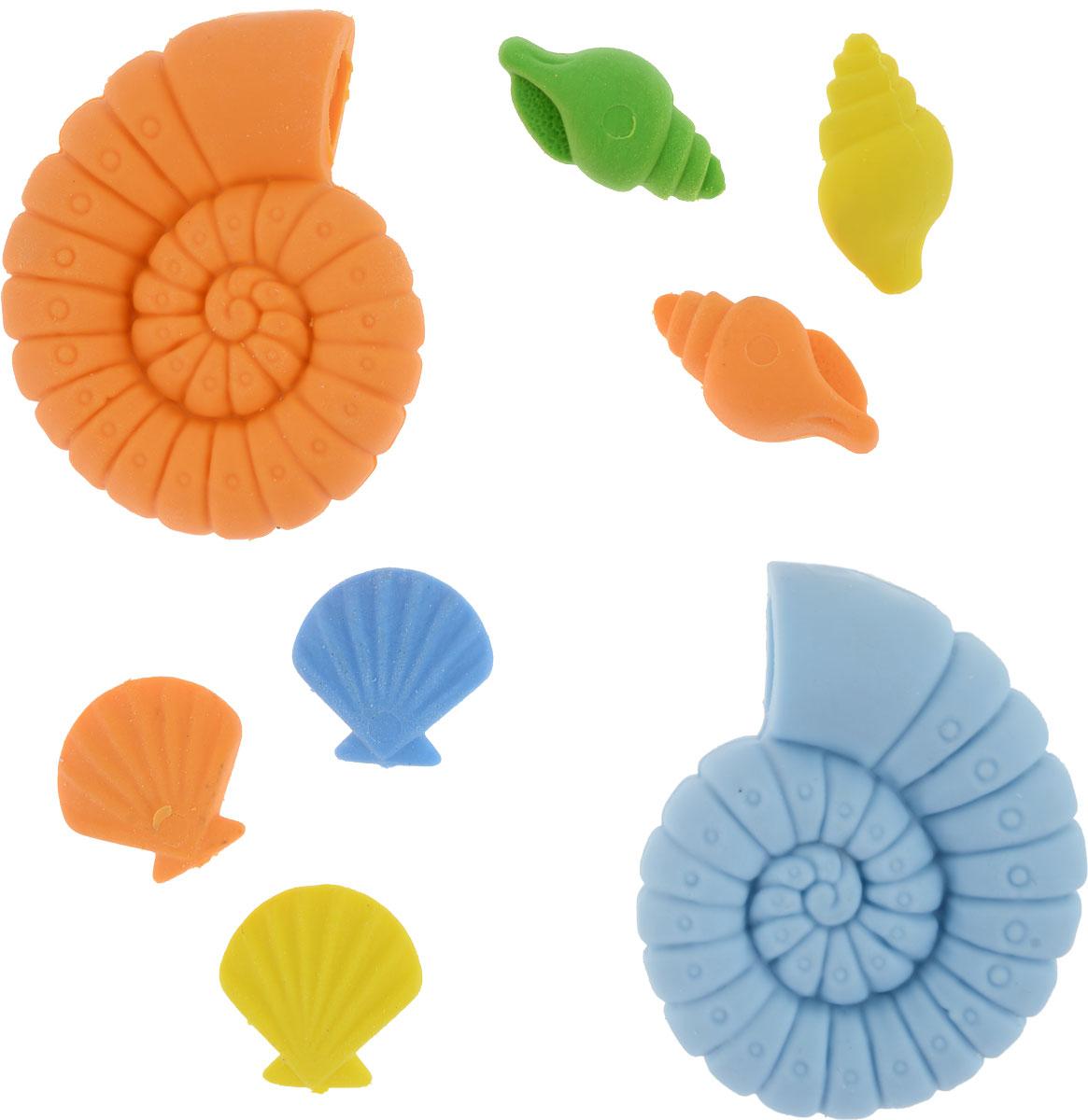 Карамба Набор ластиков Ракушка 8 шт4042Ластики Карамба Ракушка с плотной структурой изготовлены для эффективного стираниякарандашей различной твердости. Ластик обеспечивает высокое качество коррекции и неповреждает поверхность бумаги. Ластики выполнены в виде разноцветных ракушек. Уважаемые клиенты!Обращаем ваше внимание на цветовой ассортимент товара. Поставка осуществляется взависимости от наличия на складе.