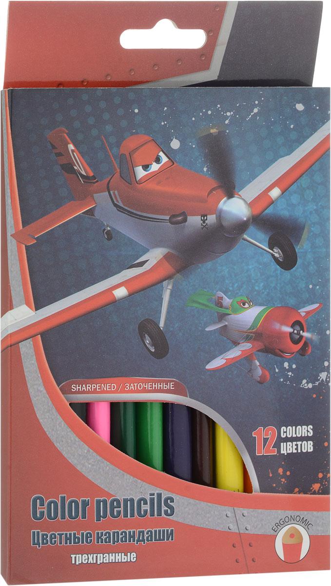 Набор цветных карандашей, 12 шт. (треугольные толстые). Цветные карандаши длиной 17,8 см; заточенные; розовое дерево; цветной грифель 4 PlanesPLAB-US1-8P-12Канцелярский набор Planes станет незаменимым атрибутом в учебе любого школьника.Уважаемые клиенты! Обращаем ваше внимание на то, что упаковка может иметь несколько видов дизайна.Поставка осуществляется в зависимости от наличия на складе.
