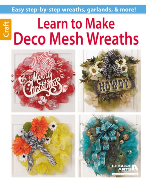 Learn to Make Deco Mesh Wreaths dimensions wreath of roses