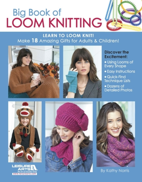 Big Book of Loom Knitting a cat a hat and a piece of string