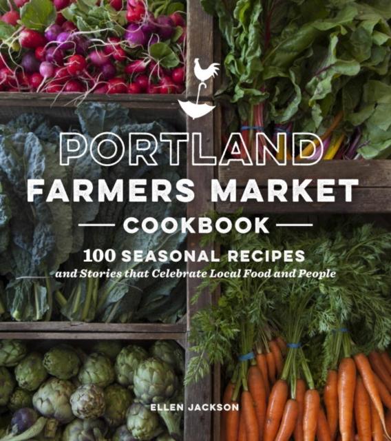 Portland Farmers Market Cookbook fold out christmas market to colour