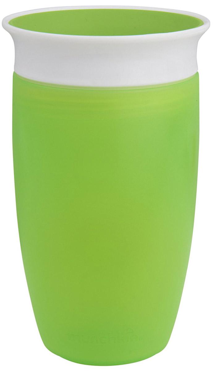 Munchkin Поильник-непроливайка Miracle 360° цвет зеленый от 6 месяцев 296 мл - Все для детского кормления
