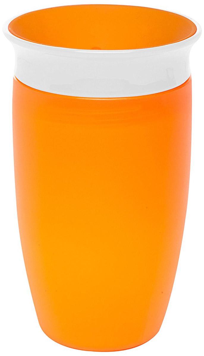 Munchkin Поильник-непроливайка Miracle 360° цвет оранжевый от 6 месяцев 296 мл -  Поильники