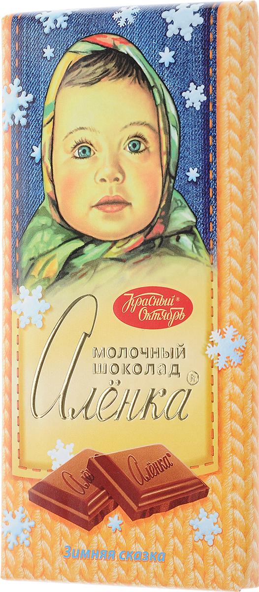 Красный Октябрь Аленка новогодняя молочный шоколад, 100 гКО01174_новогодняяЗнаменитый шоколад Алёнка выпускается кондитерской фабрикой Красный Октябрь.