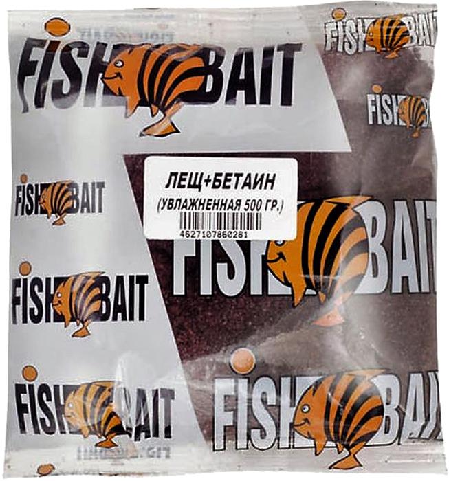 Прикормка для рыб FishBait Ice. Крупный лещ, увлажненная, зимняя, 0,5 кг