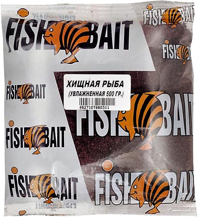 Прикормка для рыб FishBait Ice. Хищная рыба, увлажненная, зимняя, 0,5 кг