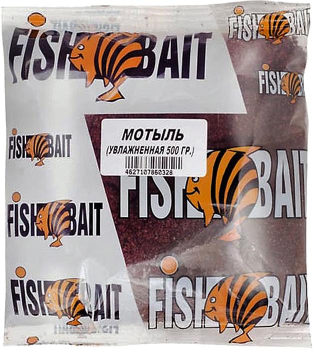 Прикормка для рыб FishBait Ice. Мотыль, увлажненная, зимняя, 0,5 кг