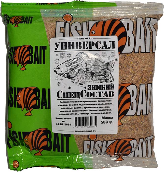 Прикормка для рыб FishBait СпецСостав, универсальная, зимняя, 0,5 кгfbss-87103СпецСостав - создана профессионалами, проверена рыболовами. Серия уловистых прикормок, разработанная в результате анализа потребительского спроса. Все они отличаются по составу, цвету и запаху. Прикормки СпецСостав - это эффективные смеси. Приготовленная прикормка отлично лепится и легко распадается в воде, что обеспечивает возможность точно прикормить место ловли и быстро привлечь рыбу в точку лова. Отлично подойдет для рыбалки как на диких так и на культурных водоемах.