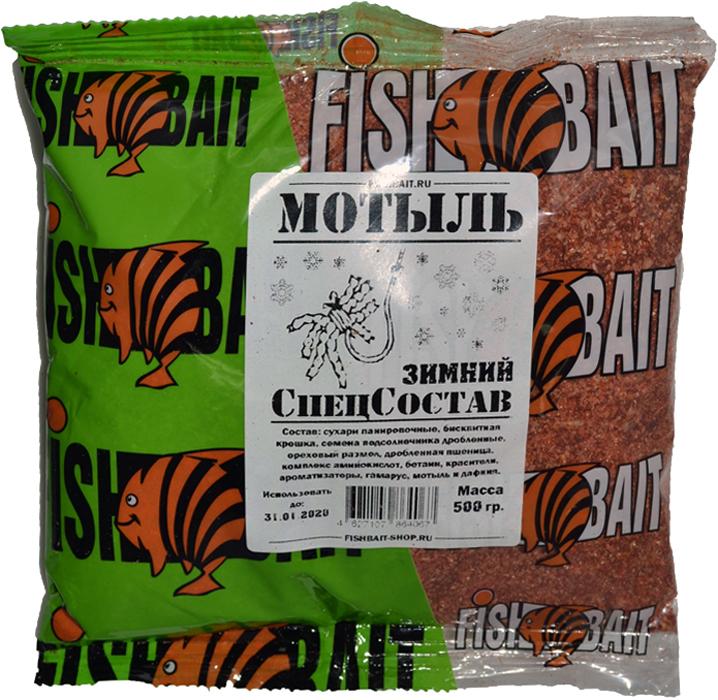 Прикормка для рыб FishBait СпецСостав. Мотыль, зимняя, 0,5 кг