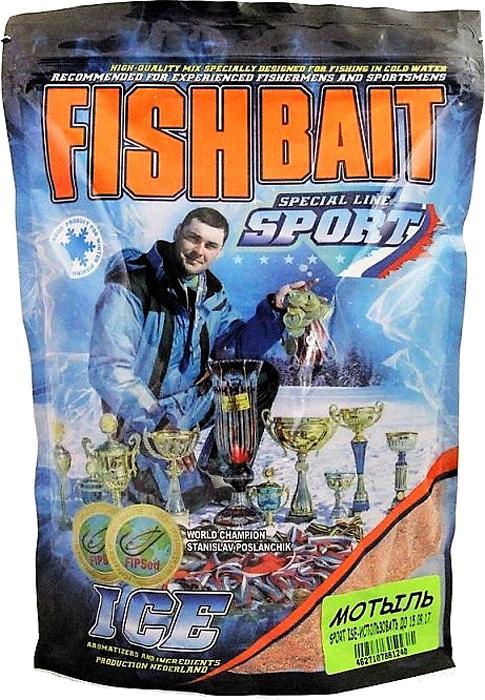 Прикормка для холодной воды FishBait Ice-Sport. Мотыль, зимняя, 0,75 кг