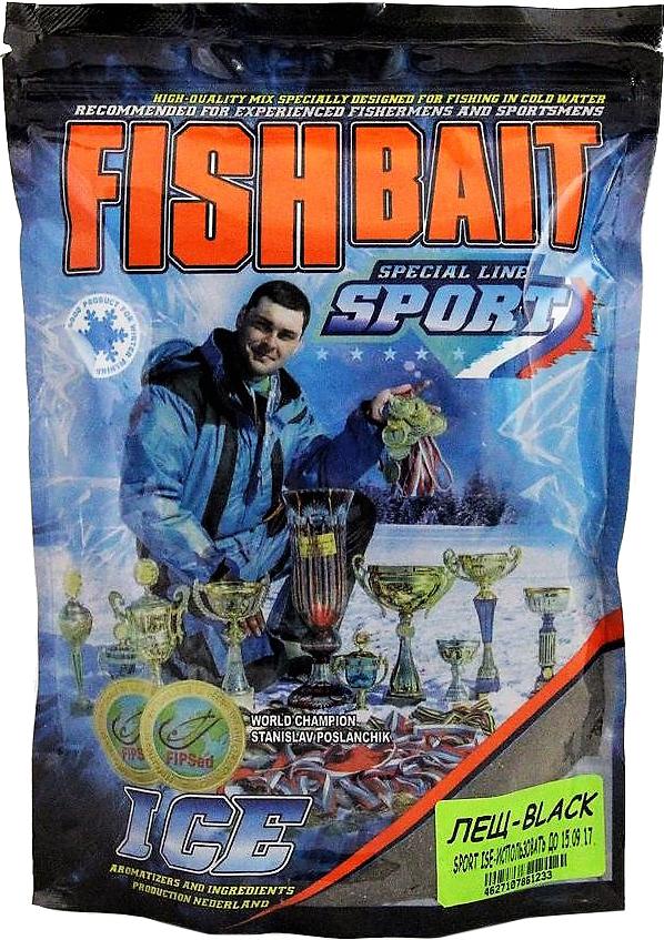 Прикормка для холодной воды FishBait Ice-Sport. Лещ - Black, зимняя, 0,75 кг