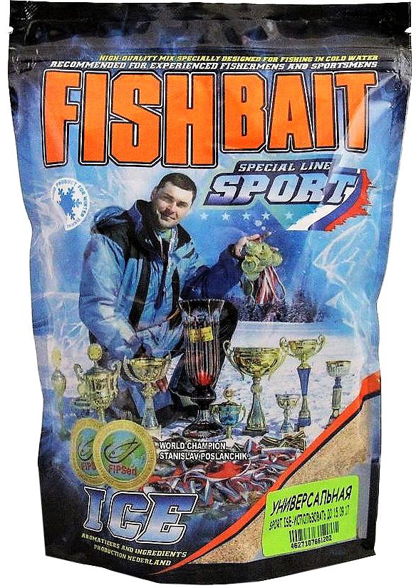 Прикормка для холодной воды FishBait Ice-Sport, универсальная, зимняя, 0,75 кг
