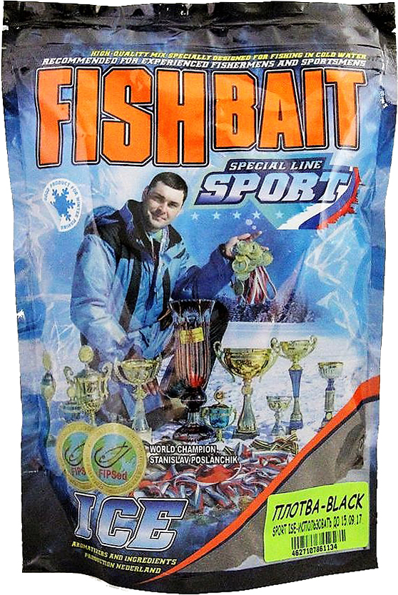 Прикормка для холодной воды FishBait Ice-Sport. Плотва - Black, зимняя, 0,75 кг