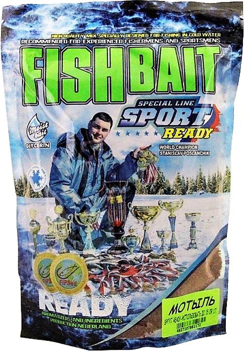 Прикормка для холодной воды FishBait Ready Sport. Мотыль, зимняя, 0,75 кг