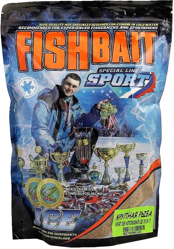 Прикормка для холодной воды FishBait Ice-Sport. Крупная рыба, зимняя, 0,75 кг морепродукты рыба