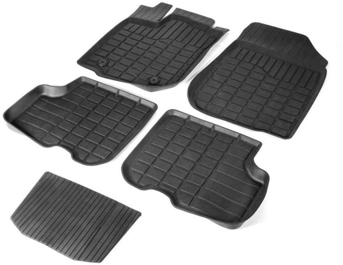 Набор автомобильных ковриков Rival для Hyundai i30 хэтчбек, универсал 2011-2017/Kia Ceed хэтчбек, универсал 2012-2015 2015-н.в., литьевые, в салон, с крепежом и перемычкой, 5 шт62801001Прочные и долговечные коврики Rival, изготовленные из высококачественного и экологичного сырья, полностью повторяют геометрию салона вашего автомобиля. - Надежная система крепления, позволяющая закрепить коврик на штатные элементы фиксации, в результате чего отсутствует эффект скольжения по салону автомобиля. - Высокая стойкость поверхности к стиранию. - Специализированный рисунок и высокий борт, препятствующие распространению грязи и жидкости по поверхности ковра. - Перемычка задних ковров в комплекте предотвращает загрязнение тоннеля карданного вала. - Коврики произведены из первичных материалов, в результате чего отсутствует неприятный запах в салоне автомобиля. - Высокая эластичность материала позволяет беспрепятственно эксплуатировать коврики при температуре от -45°C до +45°C.
