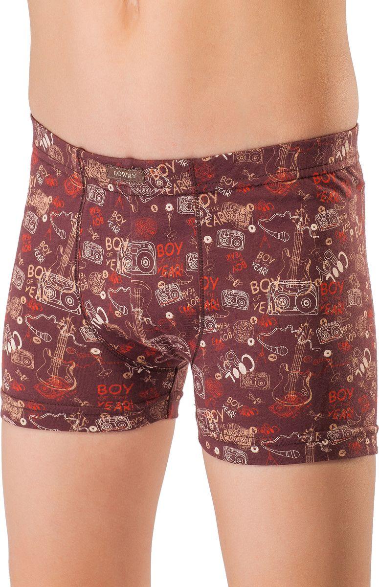 Трусы-шорты для мальчика Lowry, цвет: коричневый. BSH-330. Размер XL (134/140)