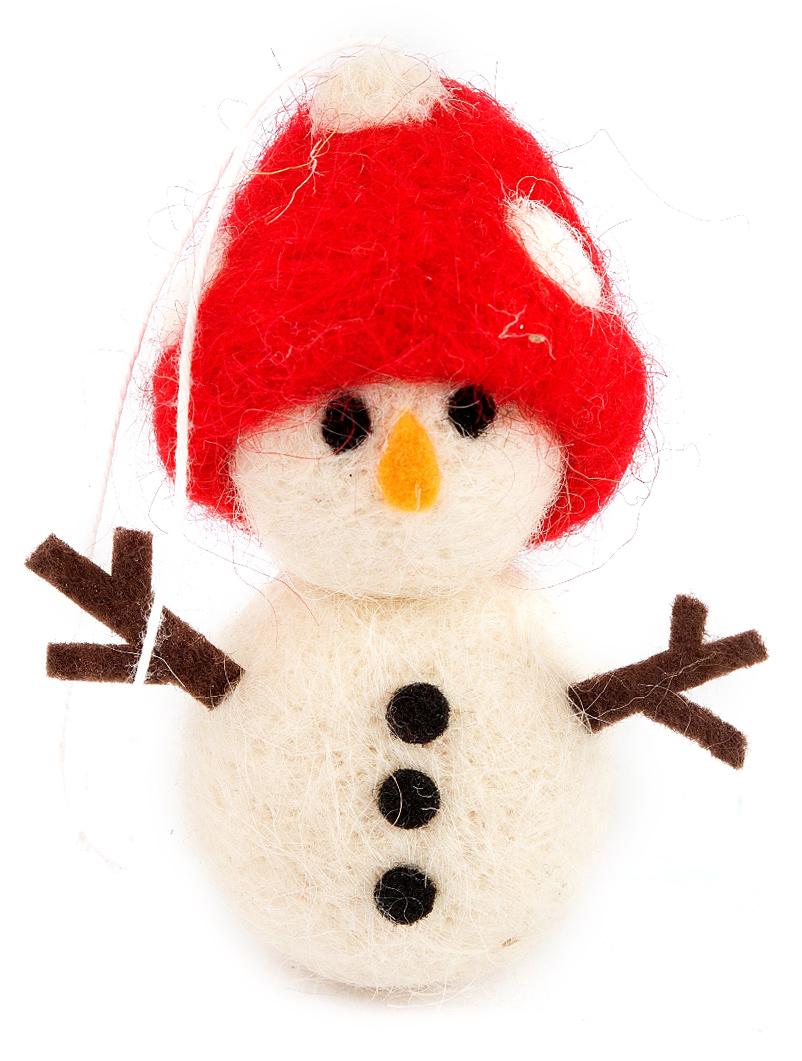 Новогоднее украшение Снеговик, 8 см. 197409197409Елочная игрушка, символ приближающегося праздника. Она послужит прекрасным подарком как для ребенка , так и для взрослого, а так же дополнит новогодний интерьер.