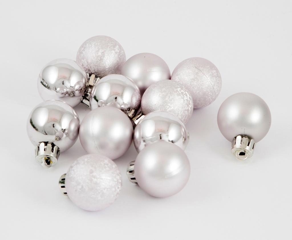 Набор ёлочных игрушек Шары из 12 шт, 30 мм серебро. 7106671066Елочная игрушка, символ приближающегося праздника. Она послужит прекрасным подарком как для ребенка , так и для взрослого, а так же дополнит новогодний интерьер.