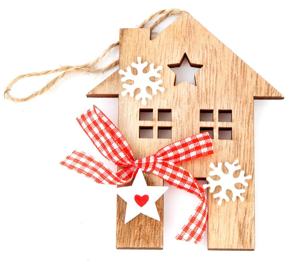 Украшение декоративное Домик 8*10*1 см . 7289272892Елочная игрушка, символ приближающегося праздника. Она послужит прекрасным подарком как для ребенка , так и для взрослого, а так же дополнит новогодний интерьер.