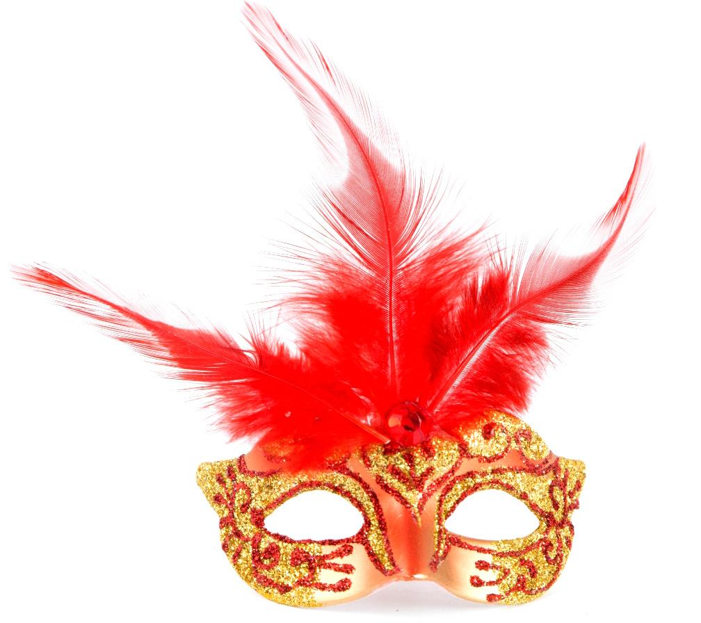 Новогодний магнит выполнен в виде маски. Прекрасный подарок или праздничный аксессуар.