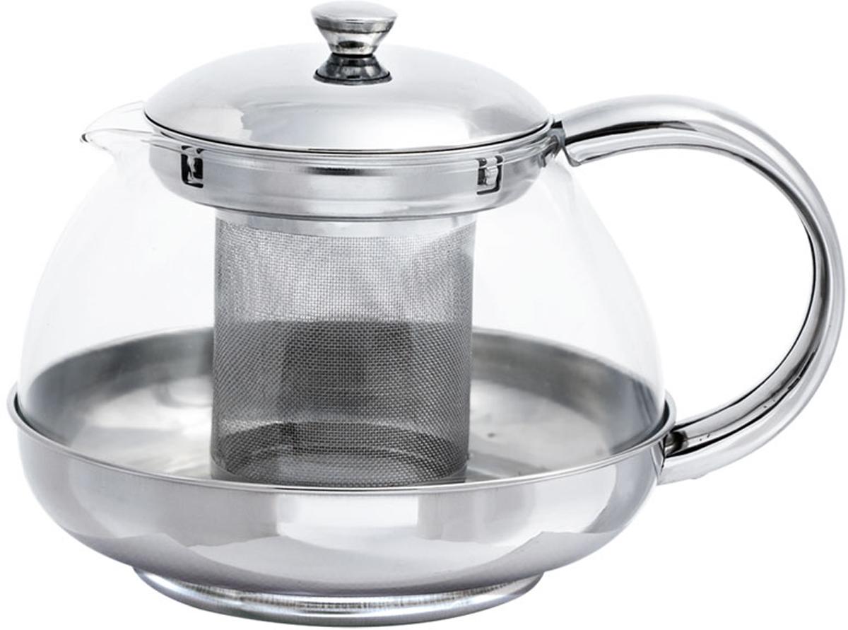 """Стеклянный заварочный чайник """"Bohmann"""" с элементами из нержавеющей стали - дает возможность заварить насыщенный ароматный чай. Легкий и быстрый способ насладиться чашечкой горячего напитка. Металлический фильтр."""
