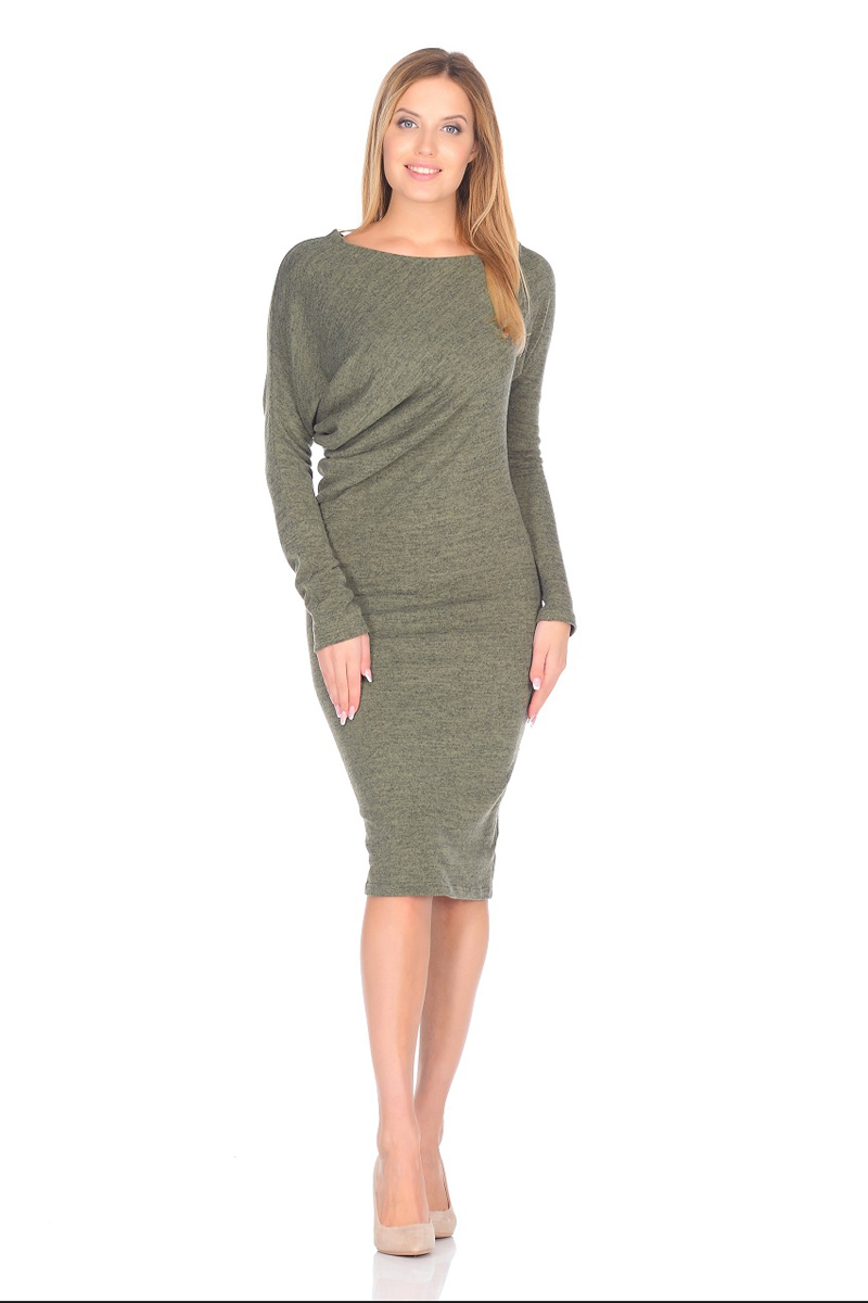 Платье La Via Estelar, цвет: зеленый. 13129-4. Размер 4213129-4