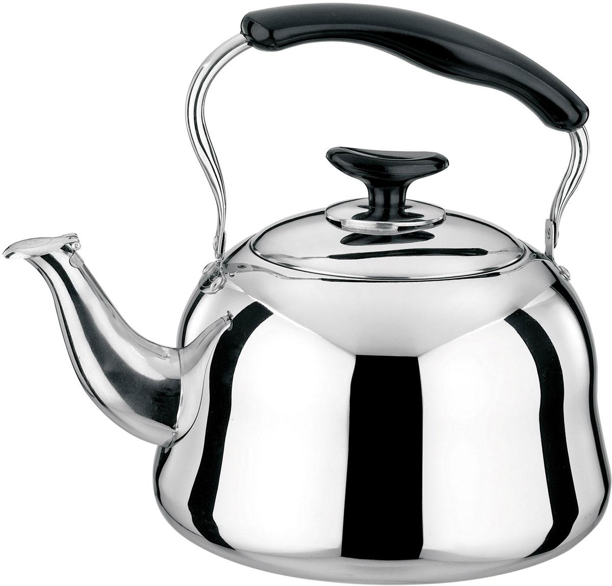 Чайник Rainstahl, цвет: стальной, 3 л. 3505-40RS/KL3505-40RS/KLЧайник стальной 4 л. Нержавеющая сталь. Крышка с функцией свистка.