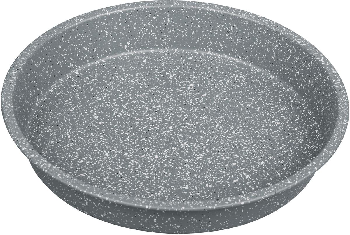 Форма для выпечки Rainstahl, с мраморным покрытием, цвет: серый, 28 х 4,5 см. 9721-28 RS\BT MRB9721-28 RS\BT MRBКруглая форма для выпечки с мраморным антипригарным покрытием. Основной плюс посуды этого типа заключается в том, что эта посуда не перегревается, соответственно не разрушается антипригарный слой. Мраморное покрытие делает возможным приготовление блюд без масла. Оно обладает повышенной стойкостью к царапинам и внешним воздействиям. Такая посуда незаменима для приготовления запеканок, всевозможных блюд из мяса и овощей, а так же выпечки теста и изысканных кондитерских блюд.