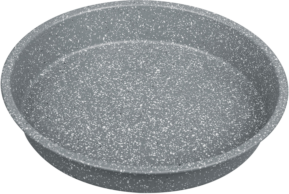 Форма для выпечки Rainstahl, с мраморным покрытием, цвет: серый, 26 х 4,5 см9721-26 RS\BT MRBКруглая форма для выпечки с мраморным антипригарным покрытием. Основной плюс посуды этого типа заключается в том, что эта посуда не перегревается, соответственно не разрушается антипригарный слой. Мраморное покрытие делает возможным приготовление блюд без масла. Оно обладает повышенной стойкостью к царапинам и внешним воздействиям. Такая посуда незаменима для приготовления запеканок, всевозможных блюд из мяса и овощей, а так же выпечки теста и изысканных кондитерских блюд.