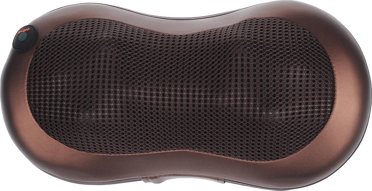 Travola AH8661A массажная подушкаAH8661ATravola AH8661A - универсальная массажная подушка, которая подойдет как для дома, так и для автомобиля. Массажные ролики обеспечивают эффективное расслабление и снятие напряжения в мышцах. Данная модель идеально подходит для массажа поясницы, плеч, шеи, ступней ног, икр и бедер. Устройство имеет приятный на ощупь чехол и вставку из искусственной кожи.