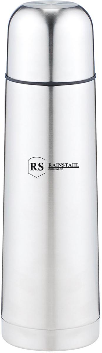Термос Rainstahl, цвет: стальной, 0,75 л. 7733-75RS\TH7733-75RS\THТермос с узким горлом. Небьющийся. Вакуумная колба из нержавеющей стали позволяет сохранять тепло долгое время. Кнопочный предохранительный клапан. Легко мыть.