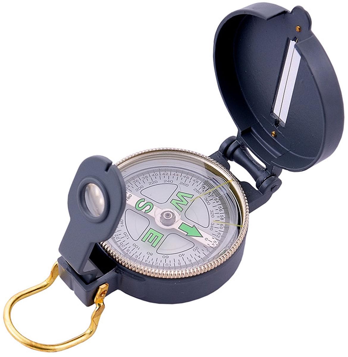 Компас AceCamp Металлический, цвет: серый. 31063106Компас Металлический Metal Compass от AceCamp. Металлический компас с жидкостным наполнением в металлическом корпусе - оптимальный вариант для эксплуатации в суровых условиях. Функции компаса: компас складной (имеется крышка и основа). Защитная крышка снабжена: прицельной нитью, прицельными светонакопительными точками. Основа снабжена: кольцом оправы с направляющими светонакопитльными полосками и увеличительным стеклом на визоре, плавающим циферблатом, магнитной стрелкой сосветонакопительным элементом. Основа компаса имеет задний прицел, с прицельной щелью и линзой. А так же скобу для закрытия конструкции. Размеры: 80 х 50 мм. Вес: 110 г.