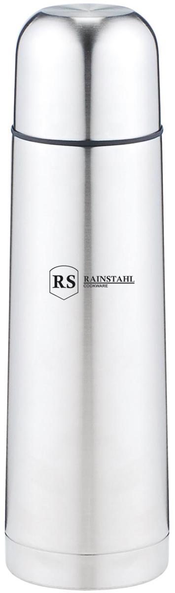 Термос Rainstahl, цвет: стальной, 0,5 л. 7733-50RS\TH7733-50RS\THТермос с узким горлом. Небьющийся. Вакуумная колба из нержавеющей стали позволяет сохранять тепло долгое время. Кнопочный предохранительный клапан. Легко мыть.