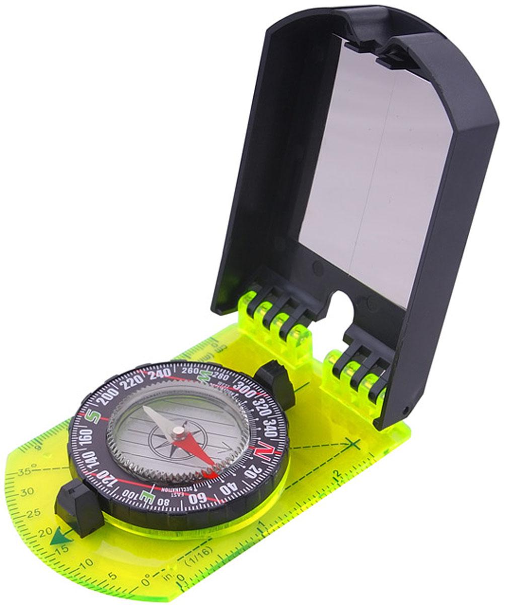 Компас AceCamp складной, с зеркалом, цвет: черный, зеленый. 31093109Компас складной с зеркалом Folding Map Compass with Mirror от AceCamp. Функции компаса: компас складной (имеется крышка и основа). Защитная крышка снабжена: зеркалом для движения по азимуту. Основа: увеличительное стекло, линейка (измерение в сантиметрах и дюймах. Точка отметки азимута. Направляющая линия. Магнитная стрелка со светонакопительным элементом. Круговая шкала. Так же в комплекте удобная веревочка для ношения на шее. Размеры: 130 х 60 мм. Вес:78 г.