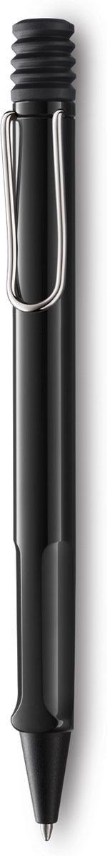 Lamy Ручка шариковая Safari синяя цвет корпуса черный4000905Самая популярная линейка бренда Lamy. Корпус этой шариковой ручки выполнен из прочного ABS пластика. Эргономичный хват позволяет пальцам принять правильное положение при письме. Металлический клип на корпусе напоминает по форме канцелярскую скрепку. Пишущий узел активируется с помощью характерной кнопки-гармошки. Используется со стержнем большого объема Lamy М16. Поставляется в подарочной коробке.Дизайн: Вольфганг Фабиан. История бренда Lamy насчитывает более 80-ти лет, а его философия заключается в слогане Дизайн. Сделано в Германии. Компания получила более 100 самых престижных дизайнерских наград. Все пишущие инструменты Lamy производятся на фабрике в Гейдельберге (Германия).