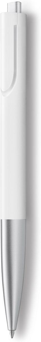 Lamy Ручка шариковая Noto цвет корпуса белый, серебристый черная4001008Шариковая ручка очень современного минималистского дизайна, одна из самых титулованных моделей Lamy (4 награды за дизайн). Создана в коллаборации со знаменитым японским дизайнером Наото Фукасавой, который охарактеризовал свой дизайн Lamy noto, как простой, но нескучный.Легкий, как перышко пластиковый корпус треугольной формы со скругленными гранями и с бархатистой поверхностью очень удобно лежит в руке. Клип не выступает наружу, как у обычных ручек, а интегрирован в корпус. Кнопка активации пишущего узла работает плавно и бесшумно.Используется со стержнем большого объема Lamy M16.Поставляется в подарочном тубусе.Дизайн: Наото ФукасаваИстория бренда Lamy насчитывает более 80-ти лет, а его философия заключается в слогане Дизайн. Сделано в Германии. Компания получила более 100 самых престижных дизайнерских наград. Все пишущие инструменты Lamy производятся на фабрике в Гейдельберге (Германия).