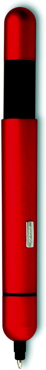Lamy Ручка шариковая Pico цвет корпуса красный черная4001032Шариковая ручка карманного формата, трансформирующаяся в полноразмерный пишущий инструмент. Создана знаменитым швейцарским промышленным дизайнером Франко Кливио. Очень простой в использовании нажимной механизм активирует пишущий узел и превращает мини-ручку в полноразмерную. Немного выступающий из корпуса логотип Lamy не дает гладкой ручке скатиться с наклонной поверхности. Ручку удобно носить в кармане брюк или в маленькой сумочке – мини-формат и скругленные формы это позволяют. Активированная до полного размера, ручка дает возможность насладиться комфортным письмом.Металлический корпусИспользуется со стержнем Lamy M22Поставляется в подарочной коробке.Дизайн: Франко Кливио История бренда Lamy насчитывает более 80-ти лет, а его философия заключается в слогане Дизайн. Сделано в Германии. Компания получила более 100 самых престижных дизайнерских наград. Все пишущие инструменты Lamy производятся на фабрике в Гейдельберге (Германия).