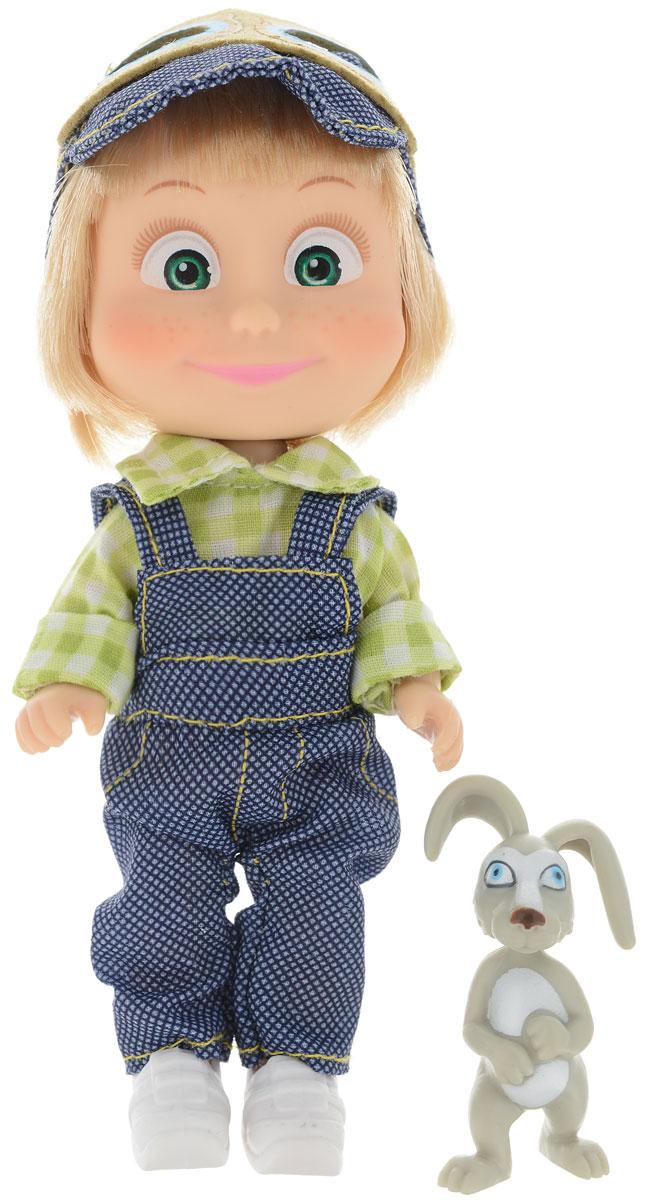 Simba Мини-кукла Маша с зайчиком цвет одежды синий зеленый