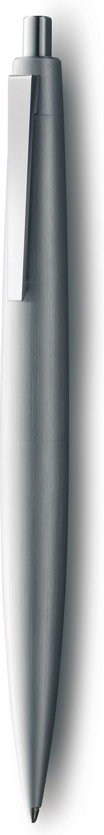 Lamy Ручка шариковая 2000 цвет корпуса серебристый черная4029630Ручка – икона стиля, олицетворяющая собой дизайн Lamy. Создана в традициях школы Баухауз с ее девизом Форма следует за функцией. Lamy 2000 свободна от излишеств как в материалах, так и в дизайне: функциональность и минимализм – ее главные черты. Корпус сигарной формы удобно лежит в руке. Эта премиальная версия Lamy 2000 изготовлена из нержавеющей стали матовой брашинг-полировки. Массивный стальной подпружиненный клип довершает лаконичный и элегантный внешний вид этой ручки. Кнопочный механизм активации.Шариковая ручка используется со стержнями Lamy M16Комплектация: подарочный футляр, гарантийная карточка, буклет.Дизайн: Герд А. Мюллер История бренда Lamy насчитывает более 80-ти лет, а его философия заключается в слогане Дизайн. Сделано в Германии. Компания получила более 100 самых престижных дизайнерских наград. Все пишущие инструменты Lamy производятся на фабрике в Гейдельберге (Германия).