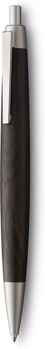 Lamy Ручка шариковая 2000 цвет корпуса темно-коричневый черная4029642Эта ручка – икона стиля, олицетворяющая собой дизайн Lamy. Создана в традициях школы Баухауз с ее девизом Форма следует за функцией.Она свободна от излишеств как в материалах, так и в дизайне: функциональность и минимализм – ее главные черты. Корпус сигарной формы удобно лежит в руке. Корпус ручки изготовлен из редкого и ценного Африканского черного дерева - очень прочного и долговечного. Стальной пружинный клип. Остальные детали имеют палладиевое покрытие. Кнопочный механизм активации. Шариковая ручка используется со стержнями Lamy M16 Комплектация: подарочный футляр, гарантийная карточка, буклет. Дизайн: Герд А. МюллерИстория бренда Lamy насчитывает более 80-ти лет, а его философия заключается в слогане Дизайн. Сделано в Германии. Компания получила более 100 самых престижных дизайнерских наград. Все пишущие инструменты Lamy производятся на фабрике в Гейдельберге (Германия).