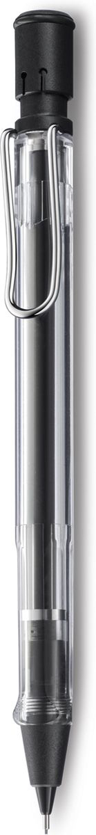 Lamy Карандаш механический Vista4000735Автоматический карандаш для тех, кто хочет видеть, как все устроено внутри.Версия-демонстратор культовой модели Lamy safari под названием Lamy vista. Корпус этого карандаша выполнен из прозрачного пластика. Эргономичный хват позволяет пальцам принять правильное положение при письме. Металлический клип на корпусе напоминает по форме канцелярскую скрепку. Пишущий узел активируется с помощью кнопки. Под крышкой кнопки находятся ластик и игла для чистки канала грифеля. Гифельный канал утапливается. Используется с грифелями Lamy M41 (0,5 мм) и ластиком c чистящей иглой Lamy Z18. Поставляется в подарочной коробке.Дизайн: Вольфганг Фабиан История бренда Lamy насчитывает более 80-ти лет, а его философия заключается в слогане Дизайн. Сделано в Германии. Компания получила более 100 самых престижных дизайнерских наград. Все пишущие инструменты Lamy производятся на фабрике в Гейдельберге (Германия).