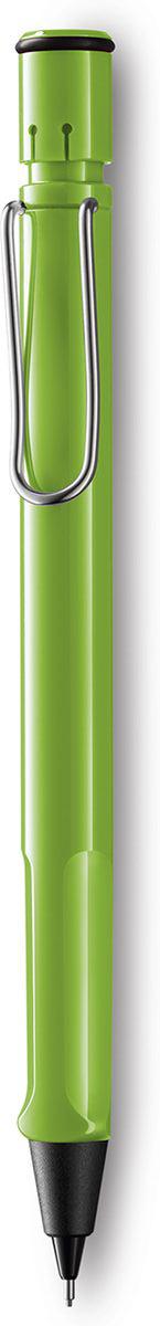 Lamy Карандаш механический Safari цвет зеленый4030637Карандаш механический Safari входит в популярную линейку Lamy.Карандаш выполнен из прочного ABS пластика.Правильный размер карандаша позволяет удобно держать его в руках.Клип на корпусе механического карандаша, по внешнему виду, напоминает канцелярскую скрепку.Используется с грифелями Lamy M41 (0,5 мм) и ластиком c чистящей иглой Lamy Z18.Механический карандаш упакован в подарочную коробку.